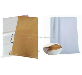 Packing additives industries kraft paper bag with open top