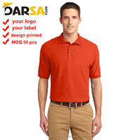 custom logo blank high quality 220gsm 100%cotton polo shirt with collar