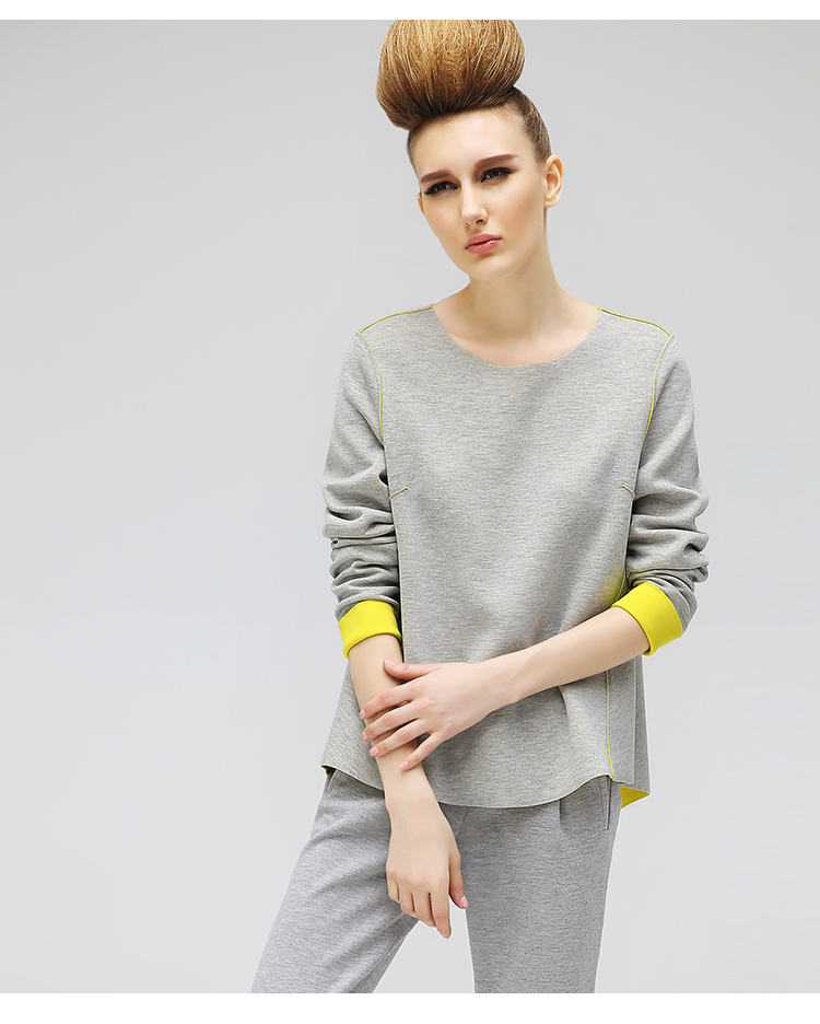 2017 latest blouse reversible jersey yellow and grey simple custom tshirt long sleeve dri fit t-shirt
