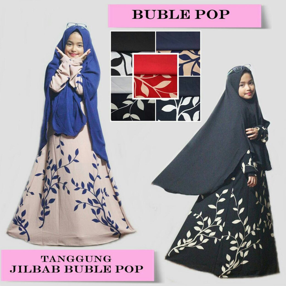 Beautiful Kids Abaya with Hijab - Muslim Dress