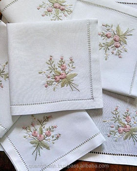 Hand embroidery napkins
