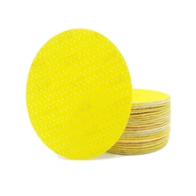 SATC 25 PACK 225 mm Yellow Drywall Sanding Abrasive Disk With Multi Holes, Mixed Grit 80 100 <strong>120</strong>