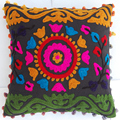 Suzani soft woolen embroidered pillow cases home decor indian cushion pillow covers