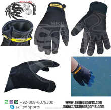 reinforced palm and back glove, mechnic glove