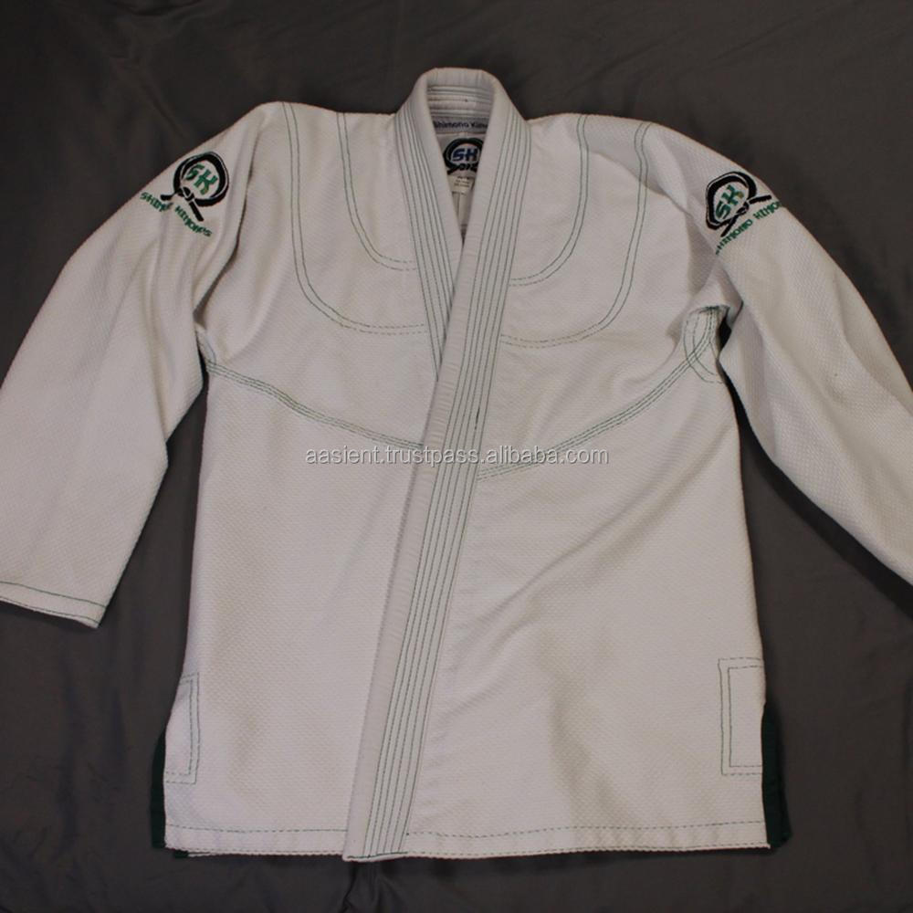 CUSTOM TAILORED FIT JIU JITSU KIMONO BJJ GI With Black LAPEL STITCHING