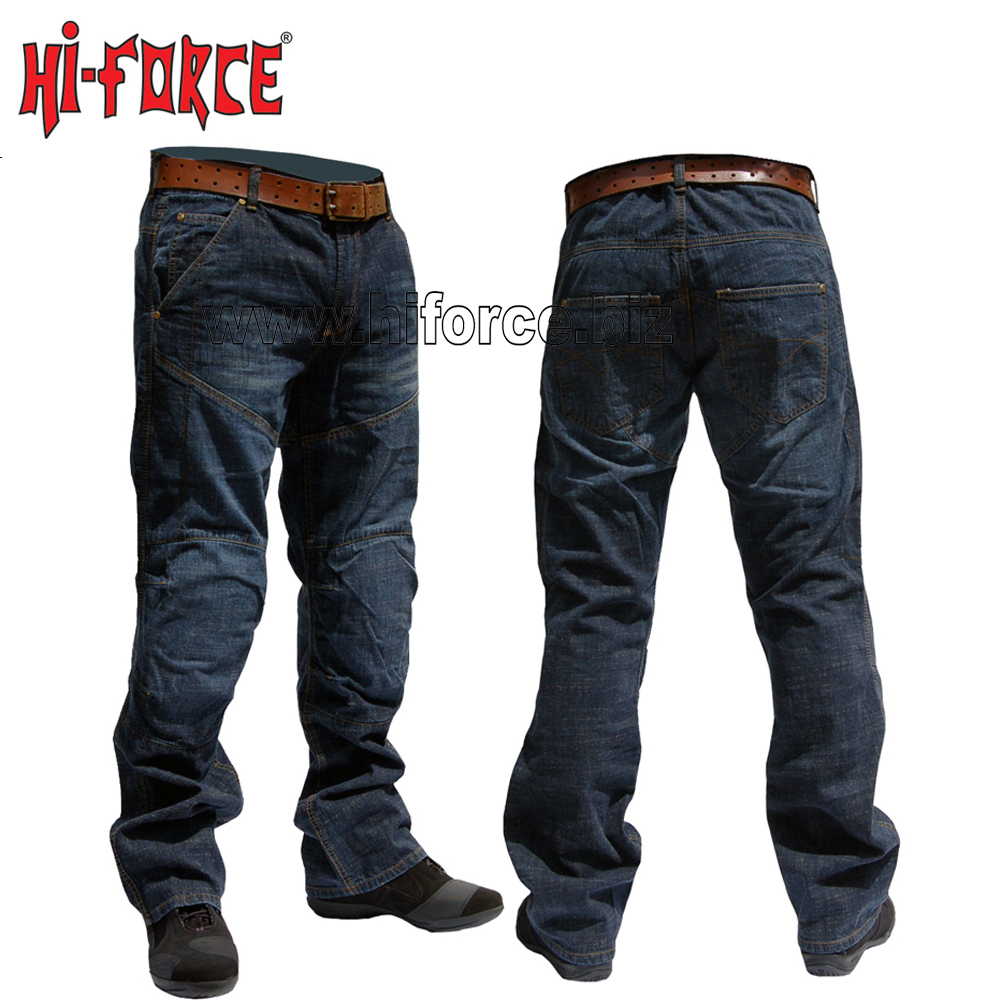 Men Biker Jeans Denim Trouser Pants Motorcycle