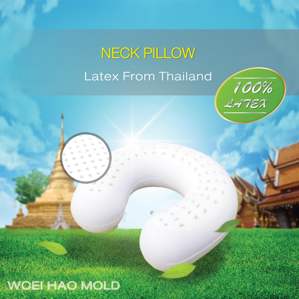 Neck pillow natural latex pillow bedding pillow 100% from manufacturer thailand
