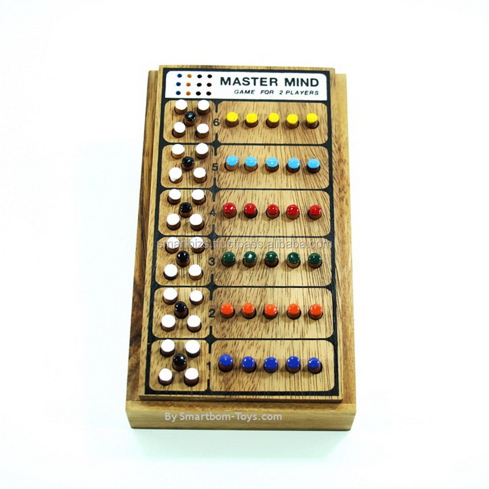Mastermind Board Game Wooden Toys Peg Game