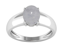 New Classic Model Stylish Jewelry Ring , 925 Sterling Solid Silver Rainbow Moonstone Oval Cab Gemstone Women Ring