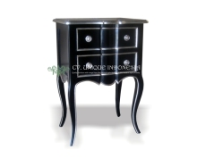 bedside table 2 drawer use bedroom classic style furniture