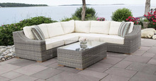 Hot selling Royal PE PVC Poly Rattan Sofa set Garden Wicker Outdoor Furniture