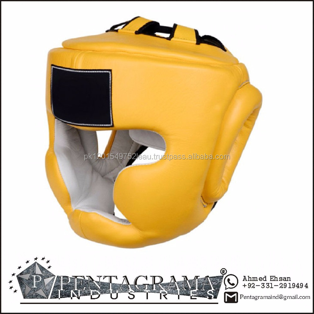 Latest Wholesale Grant Custom PU Leather Boxing Helmet/Head Guard for Training