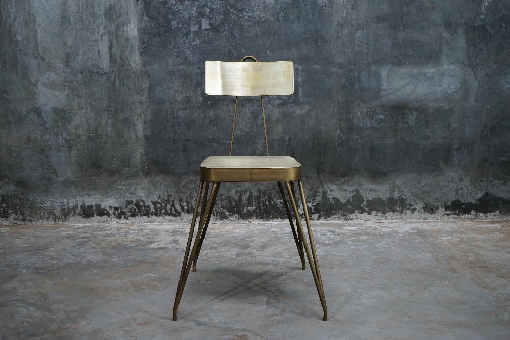 Luxor Brass Chair
