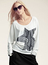 Ladie's high quality Long Sleeve printed t shirt 2017