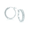 Best Seller High Quality 925 Sterling Silver Jewelry CZ Synthetic Diamond Half Hoop Eternity Round Earrings for Woman Girl Gift