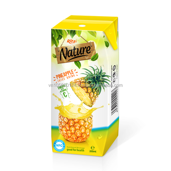 NFC fruit juice pineapple juice in box packing