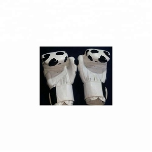 Panda Print Boxing Gloves Real leather or PU leather