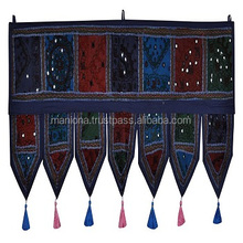 Indian cotton window valance embroidery door decor wall hanging toran