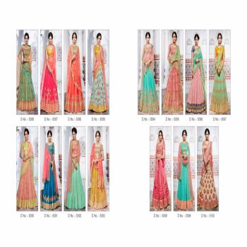 Nakkashi Ethnic Essene Collection Fancy Fabric Heavy Partywear Festivel Semi-Stitched Designer Lahenga For Indian Women