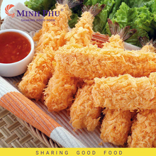 Vannamei Frozen Raw PTO Breaded Shrimp 50% Shrimp