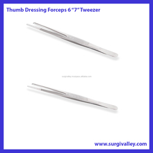 Thumb Dressing and Tissue Forceps Tweezers 6""