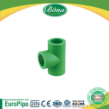 [EUROPIPE] DIN16962 thermal insulation PPR Tee, PPR swept tee, PPR reducing tee all ppr set available