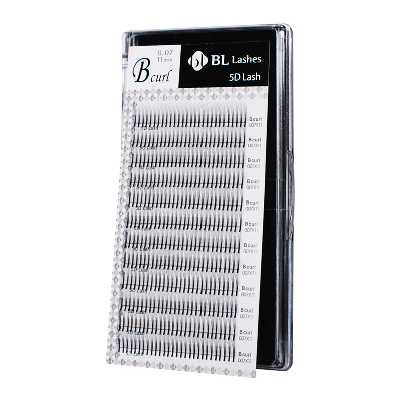 5D Lash by BL Lashes / pre-made fans / 12 lines / J, B, C, D / From 8 to 15 mm