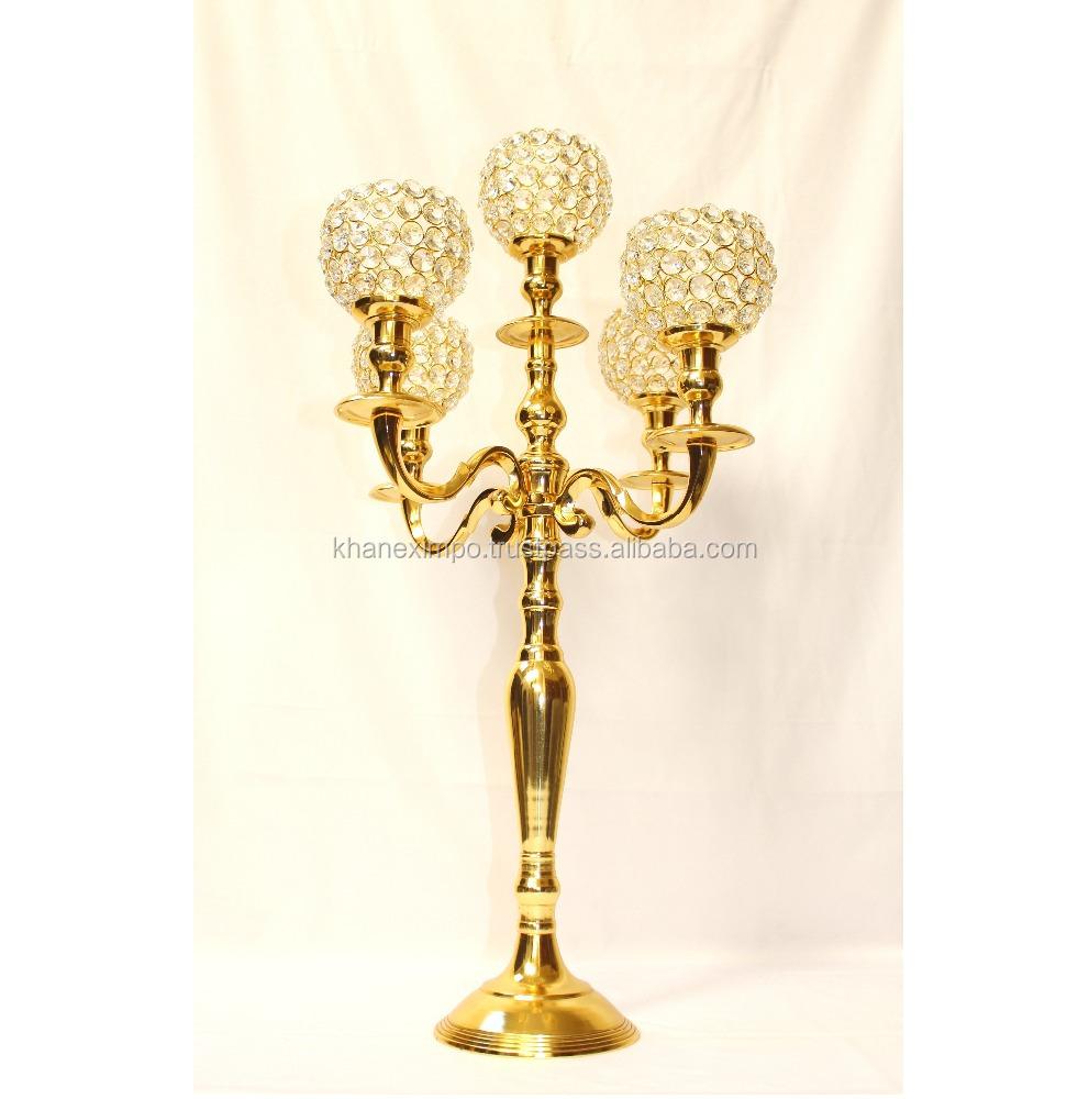 5 Light Wedding Candelabra Centerpiece, 5 Light Wedding Candelabra ...