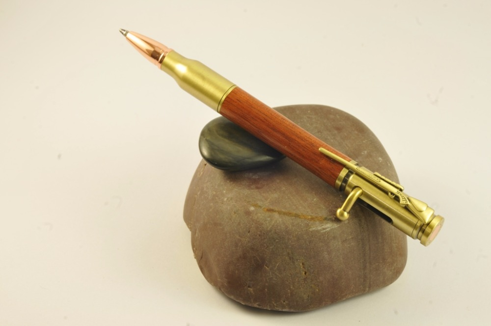 Bolt action bullet design writing pens hunting gift army
