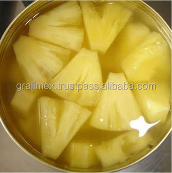 Canned Pineapple Pieces in light / heavy syrup
