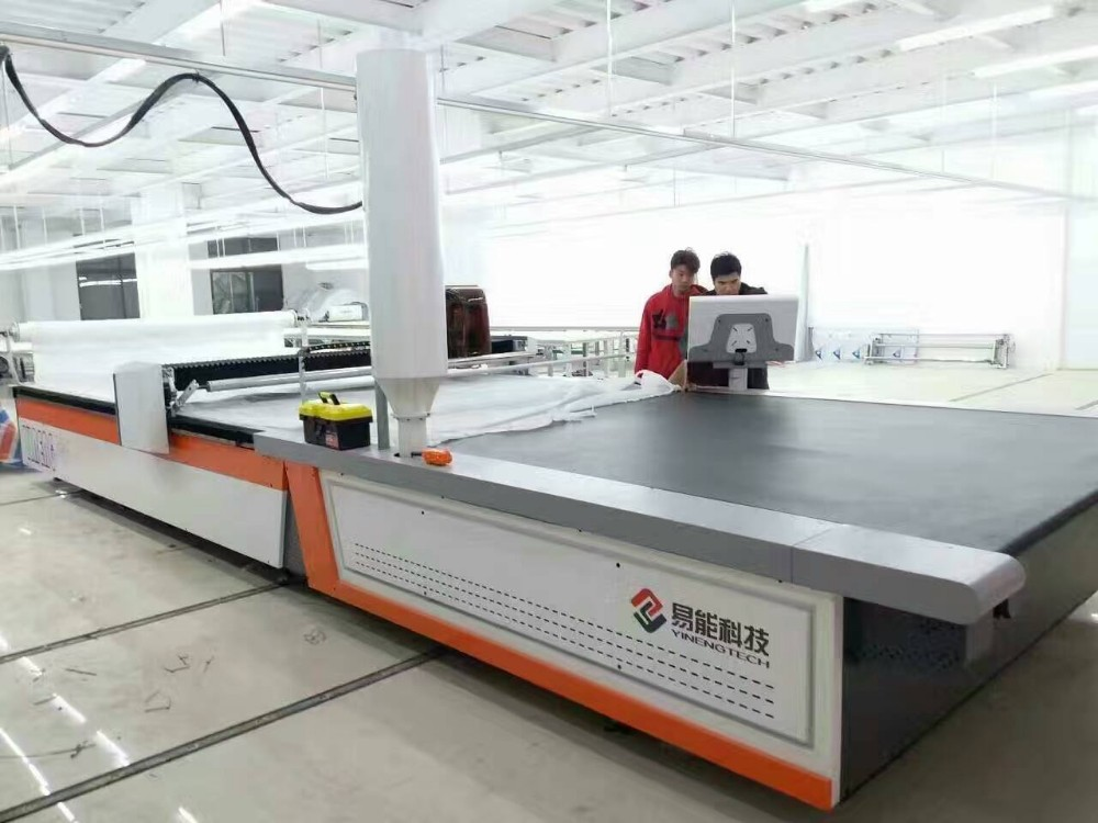 2m width 75mm thick cnc fabric cutting machine for knit cotton silk