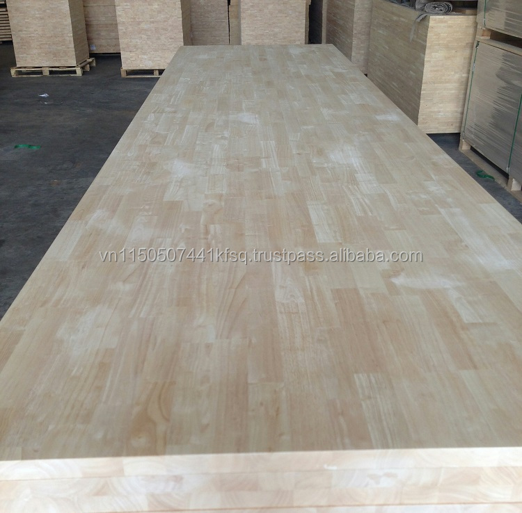 VIETNAM RUBBER WOOD / HEVEA FINGER JOINT LAMINATING BOARDS / PANELS