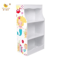 Toffy & Friends kids cabinet wooden bookshelf storage cabinet in Mermaid design