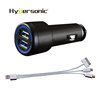 Power Bank 3IN1 Dual USB Car Mobile Phone Charger QC 3.0