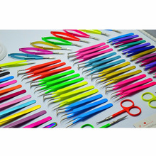 Japanese Stainless Steel / Sharp point / Neon Eyelash Extension Tweezers & Scissors / Best Quality from Zona Pakistan