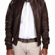 Latest Design Bomber Brown Jacket Original Pure Sheep Leather for Men
