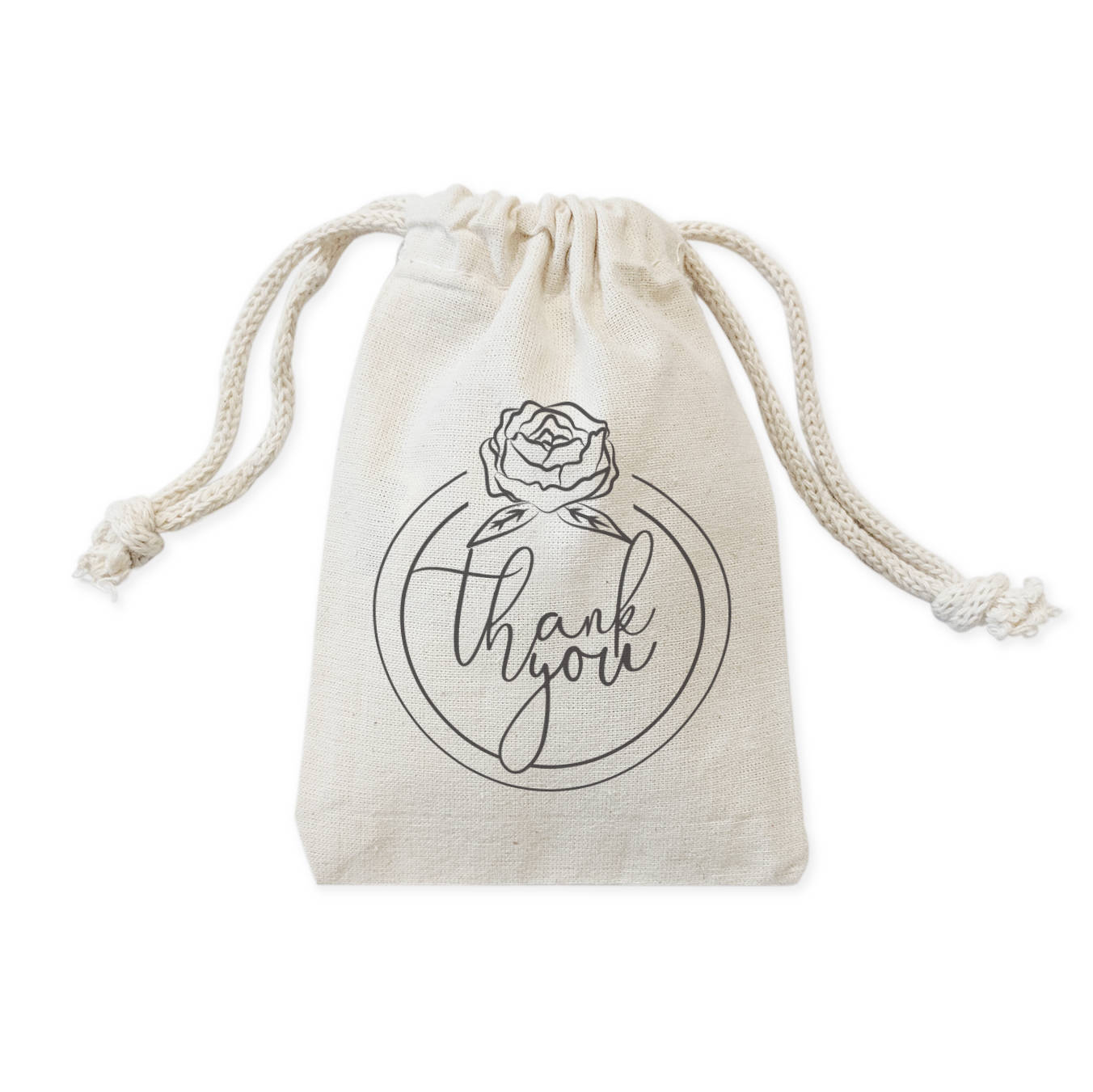 Cotton canvas wedding party favor cookie candy treat gift bags