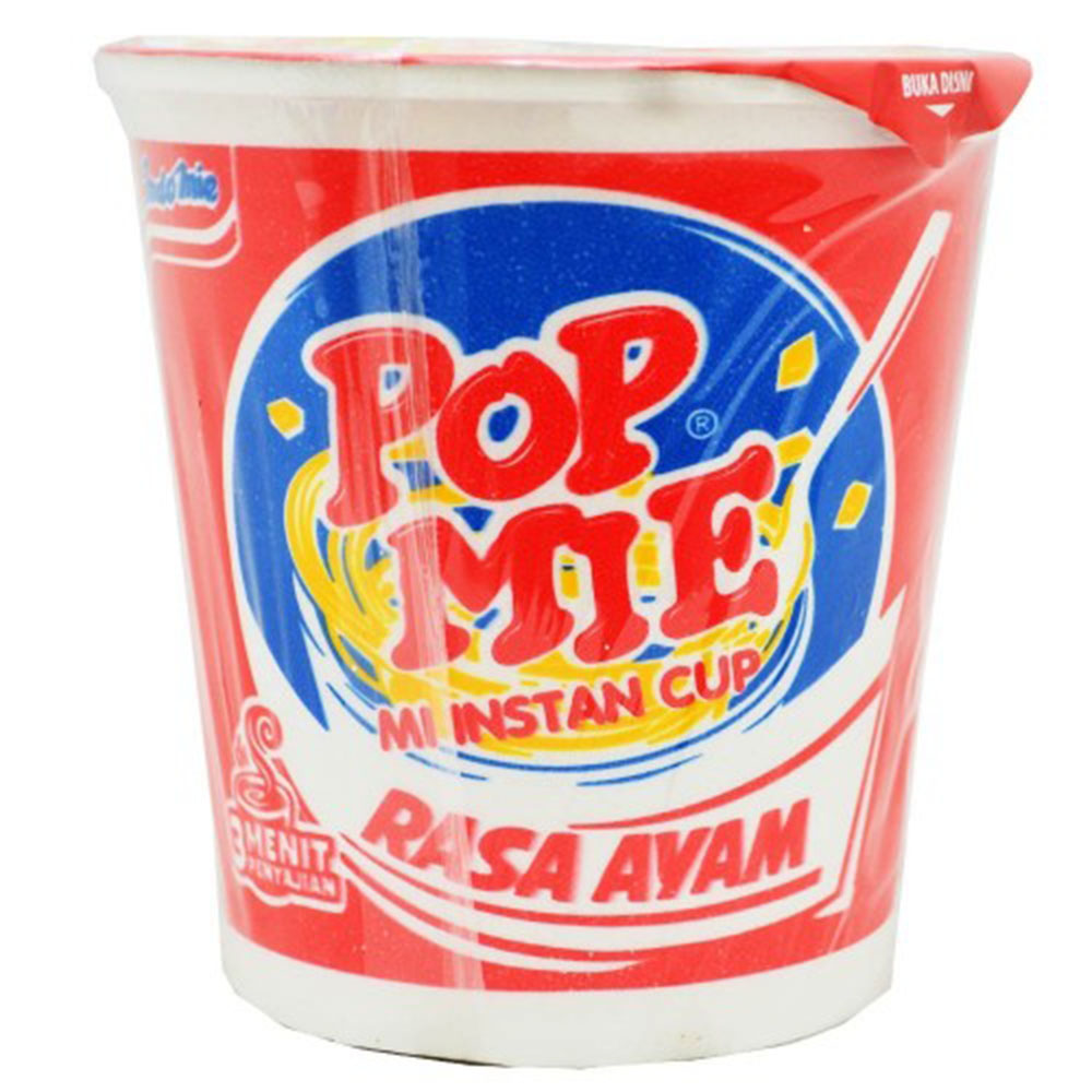 Indomie Pop Mie Chicken Flavor Instant Noodles 75g (Cup) For Sale