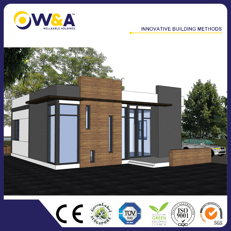(WAS3505-110S)China Low Cost International Prefab Modern Houses, Fire Proof