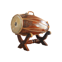 Handmade Two sided drum long Barrel Full Size Malaysia Drum for Gamelan