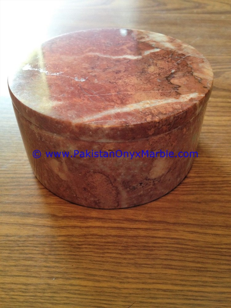 high quality cheap price natural marble boxes Trinket Boxes Jars canister container round square