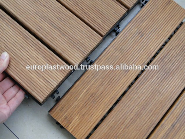 WPC Hollow decking tile, interlocking, waterproof, UV-resistant, Non-toxic made in Vietnam