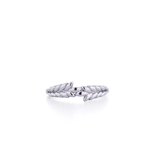 925 Silver Classical Nature Leaf ring