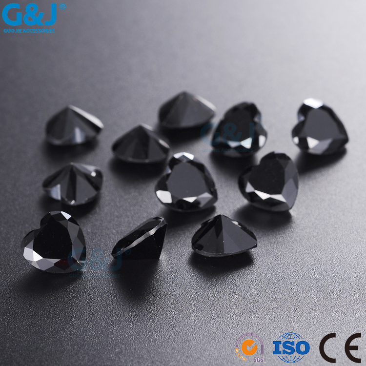 guojie brand High Brightness Heart Shape GuoJie Trimming Factory rhinestone