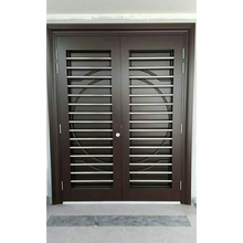 Designer Solid Decorative Wooden Door Bookmatch Door Double Leaf Door