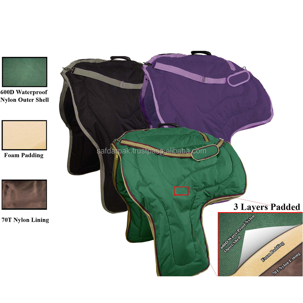 New Design Equestrian Saddle Carry Bag Cover for easy Move with Best Materials with Best Quality Lining
