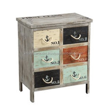 6 DRAWER MULTICOLOR ACCENT DRAWER CHEST