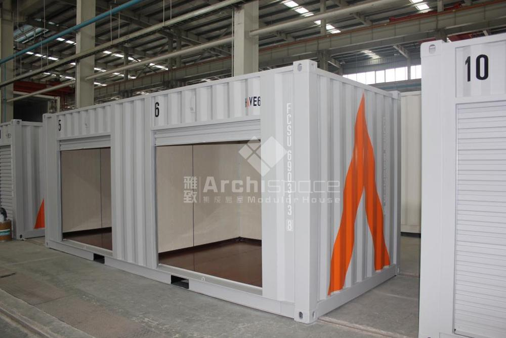 prefab warehouse with 20ft storage container made in China