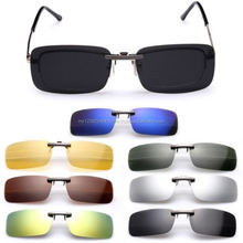 Polarized Clip On Lens Men Women Fashion Sunglasses Unisex Driving Vision UV 400 Day Night Protection Glasses