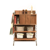 EZBO Living Room Furniture Modular Tall Cabinet Wooden 4 feet